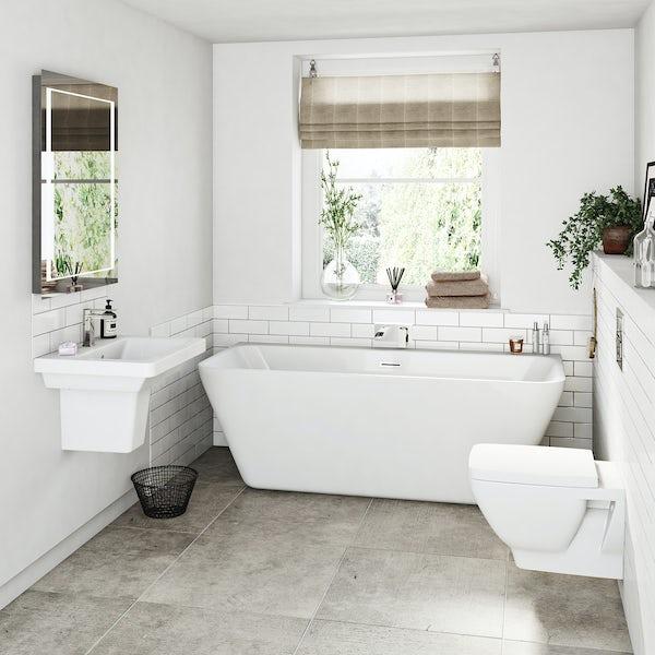 Cooper bathroom suite with freestanding bath