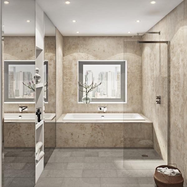 Multipanel Linda Barker Stone Elements unlipped shower wall panel 2400 x 1200