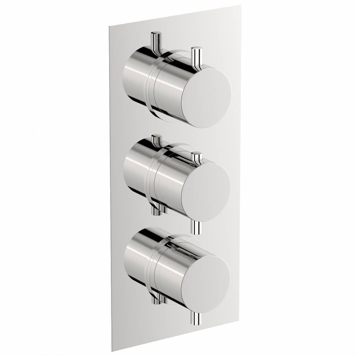 Mode Matrix square triple thermostatic shower valve with diverter offer pack