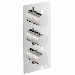 Matrix square triple thermostatic shower valve with diverter