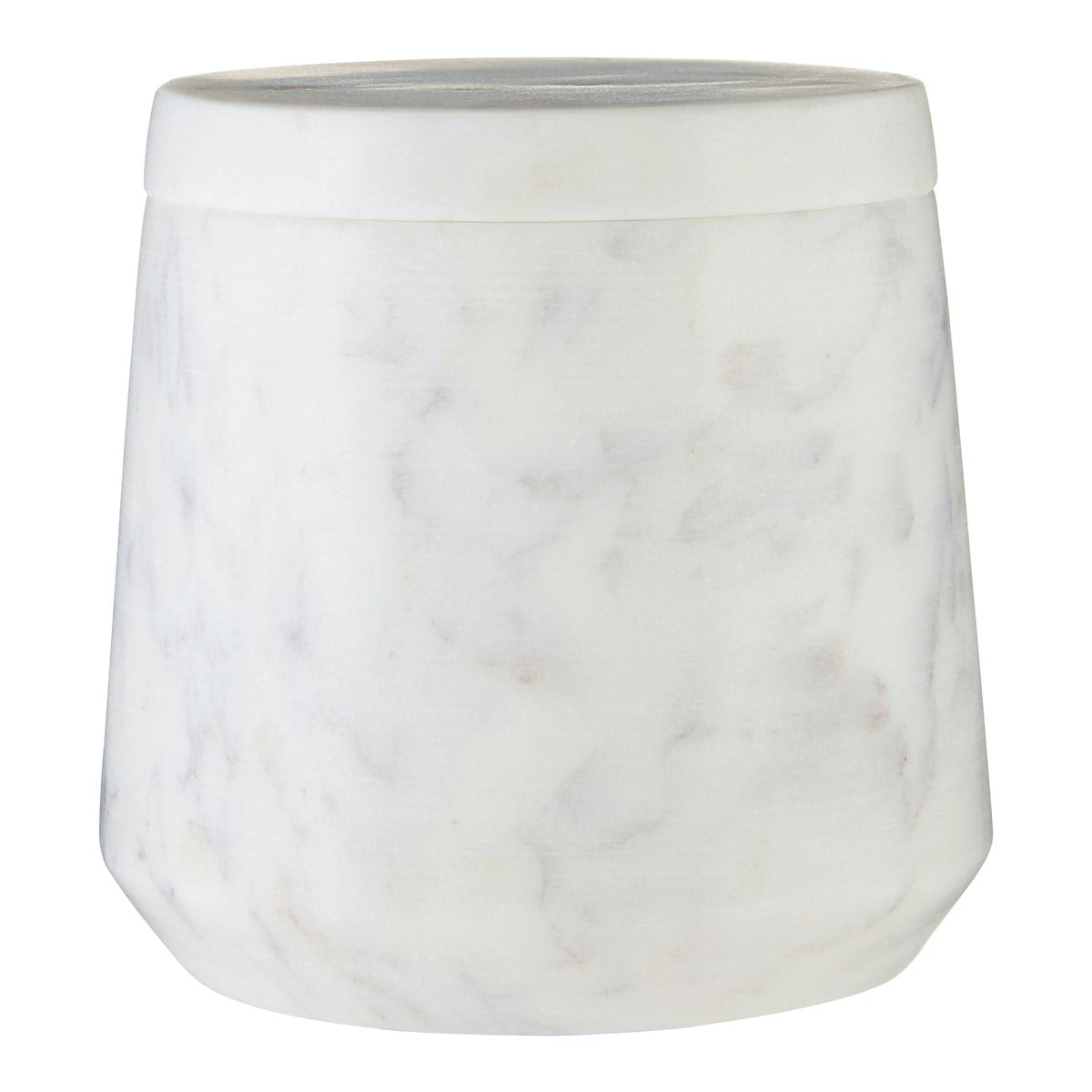 Mode White marble storage jar