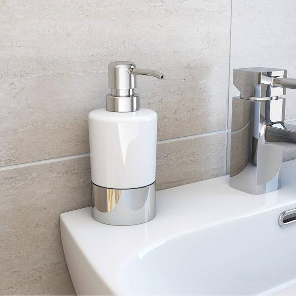 Options White Ceramic Basin Accessory Set