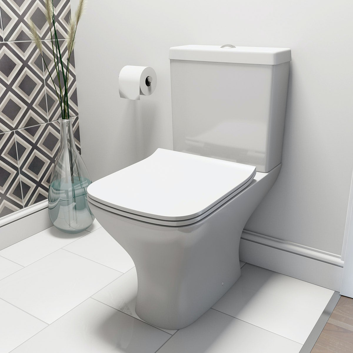Compact Square Close Coupled Toilet