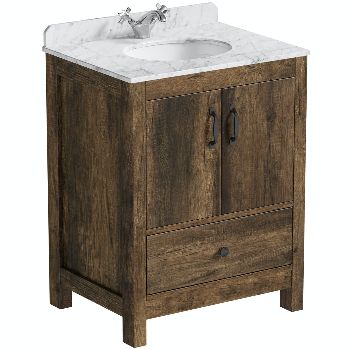 The Bath Co. Brixton vanity unit and white marble basin 650mmThe Bath Co. Dalston vanity unit and white marble basin 650mm