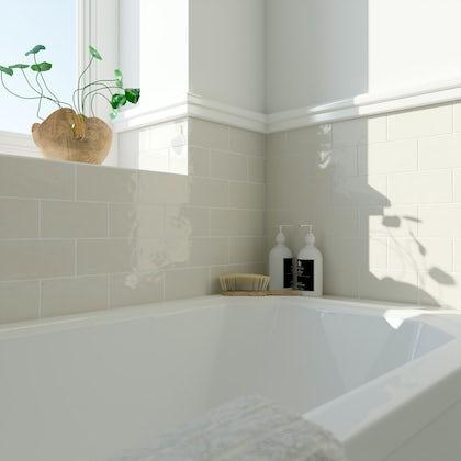 Laura Ashley Artisan creamware wall tile 75mm x 150mm
