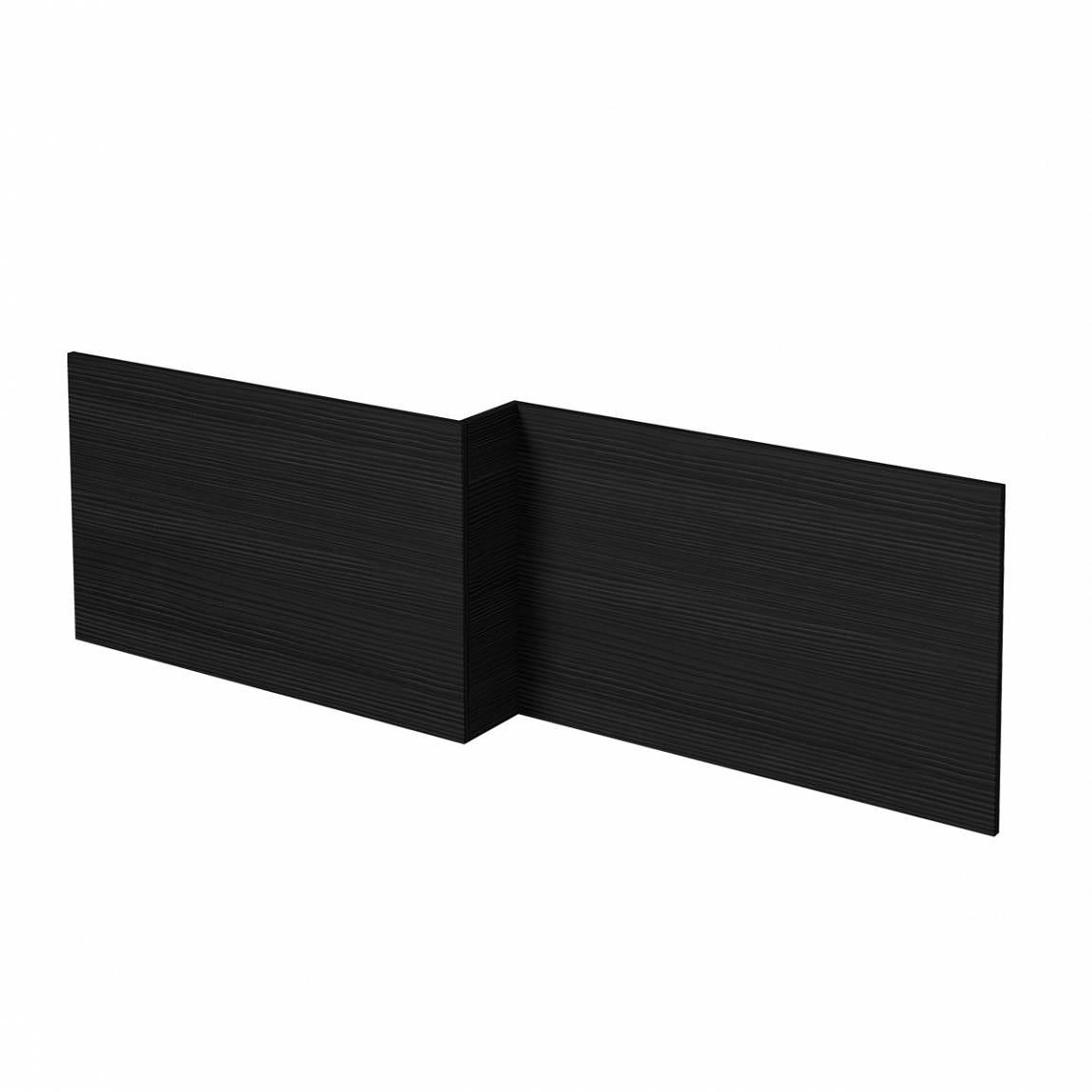 L shaped shower bath wooden front panel Drift essen 1500mm