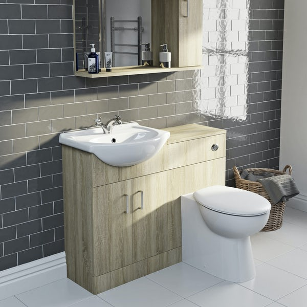 Eden oak 1040 combination with Clarity back to wall toilet