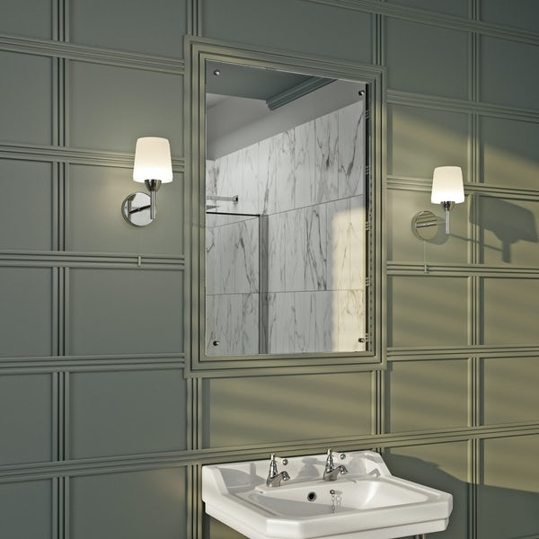Bathroom Remodel For Under 5000: Forum Helios Bathroom Wall Light