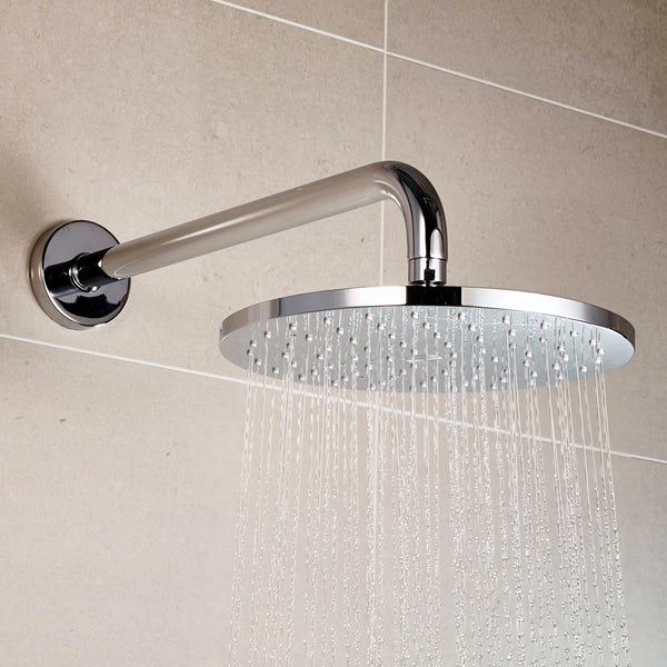 Aqualisa Q concealed digital shower standard with fixed shower head
