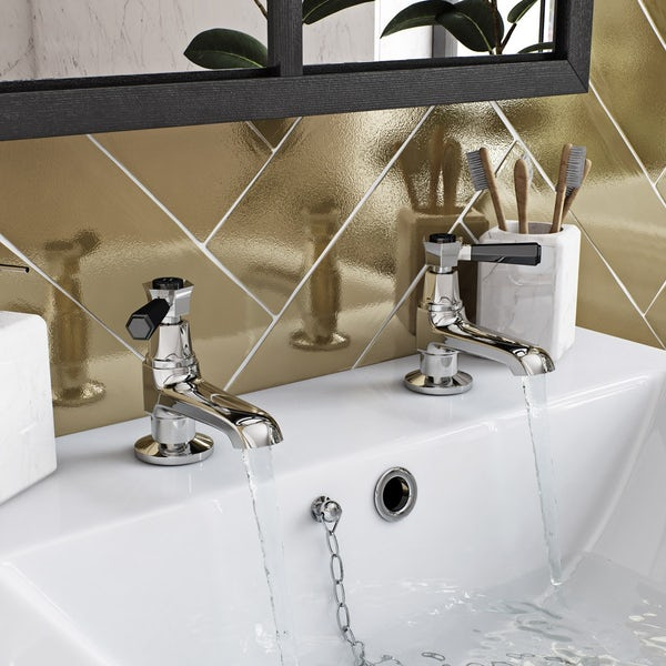 The Bath Co. Beaumont lever basin pillar taps offer pack