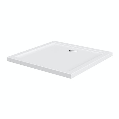 Square stone shower tray 760 x 760 - Shallow shower tray ...