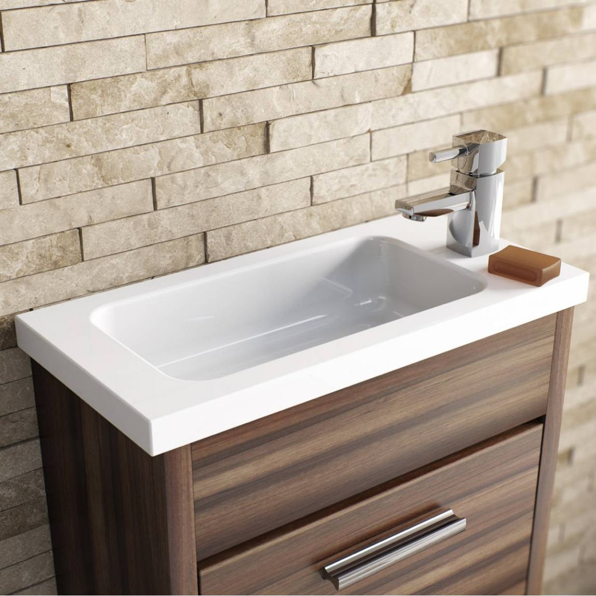 Orchard derwent cloakroom basin mixer tap - Glass cloakroom basin ...