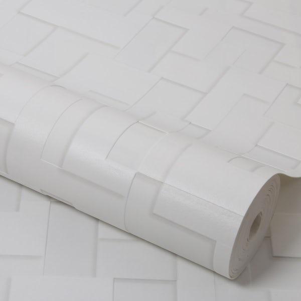 Graham & Brown Checker cream wallpaper