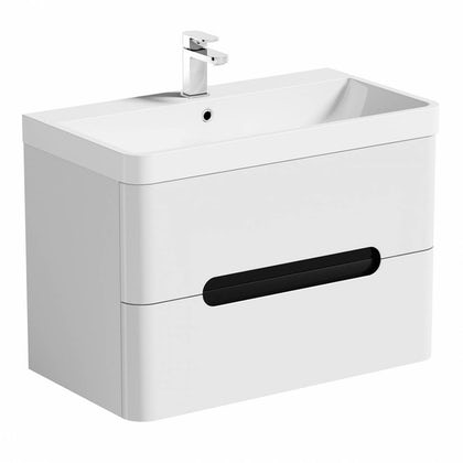 Mode Ellis essen wall hung vanity drawer unit and basin 800mm