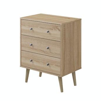 MFI Helsinki Oak 3 drawer chest