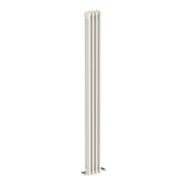 Dulwich vertical white triple column radiator 1800 x 155