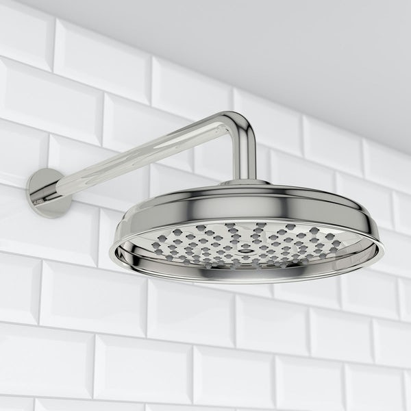 Winchester 200mm Shower Head & Curved Wall Arm