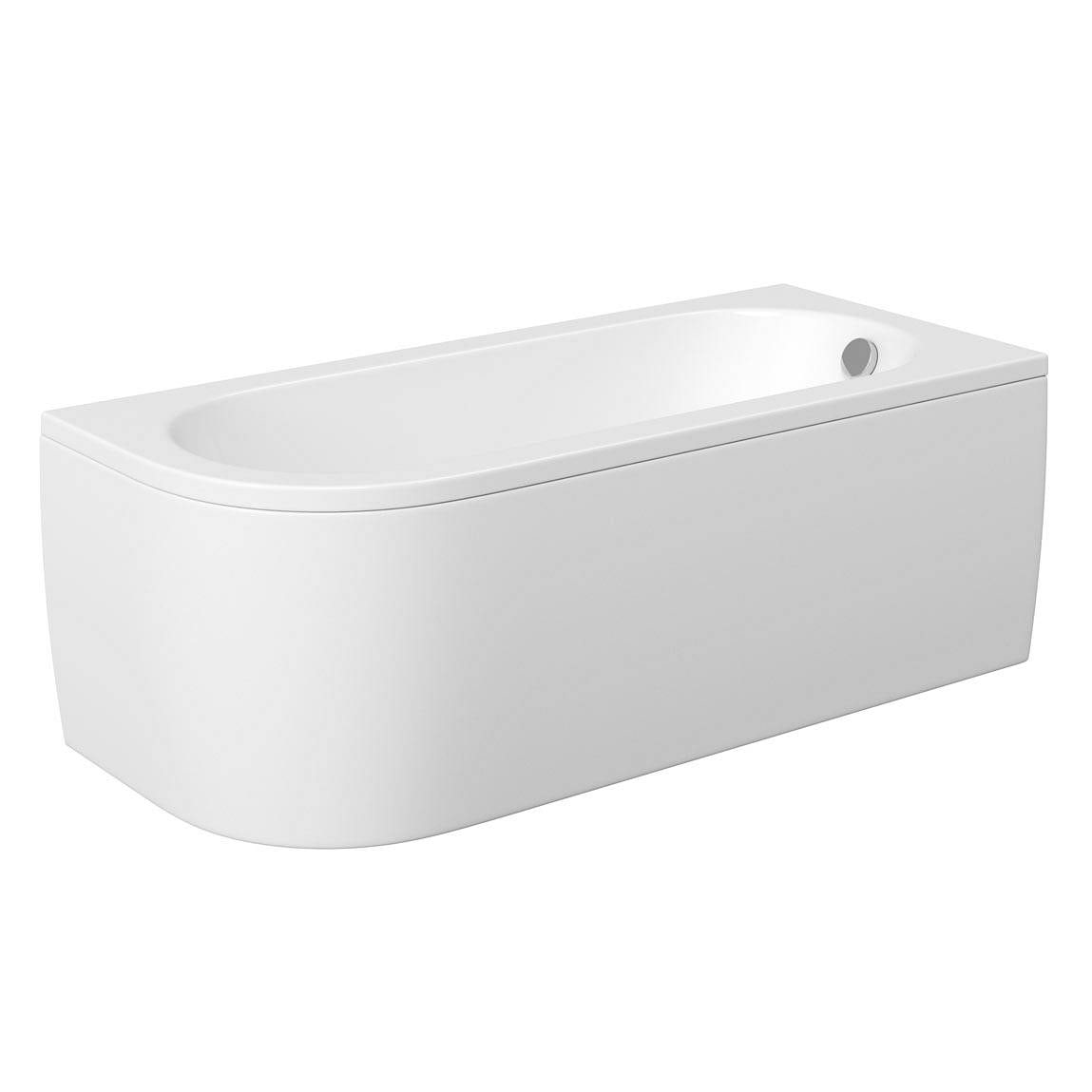 Orchard Elsdon D shaped right handed single ended bath with panel