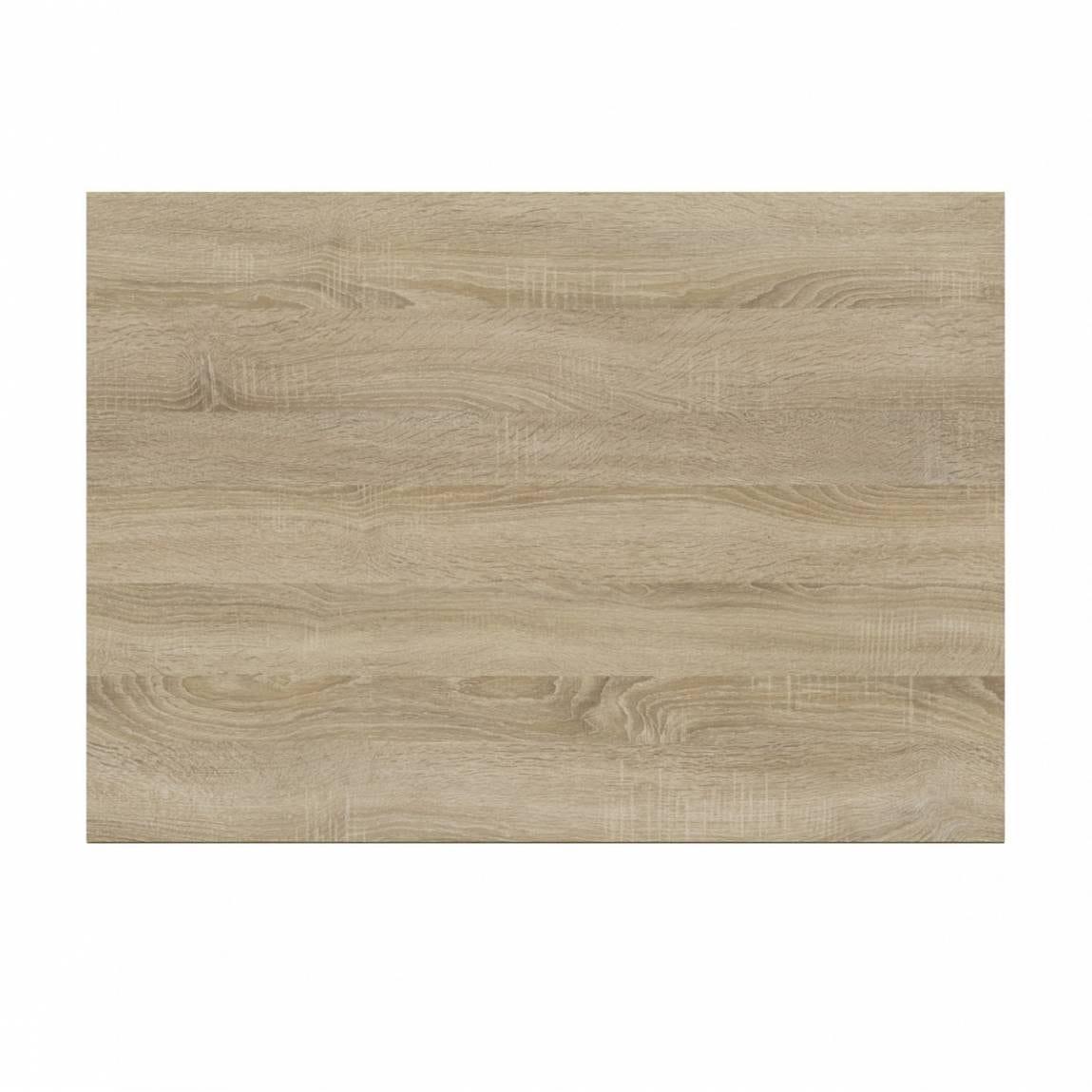 L shaped shower bath wooden end panel Drift sawn oak 700mm