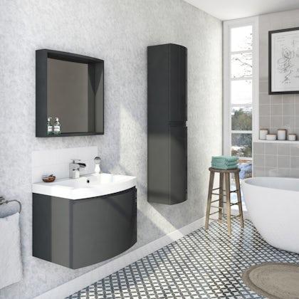 Graham & Brown Limestone silver and grey wallpaper