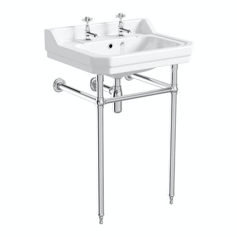 The Bath Co. Traditional washstand with Camberley basin