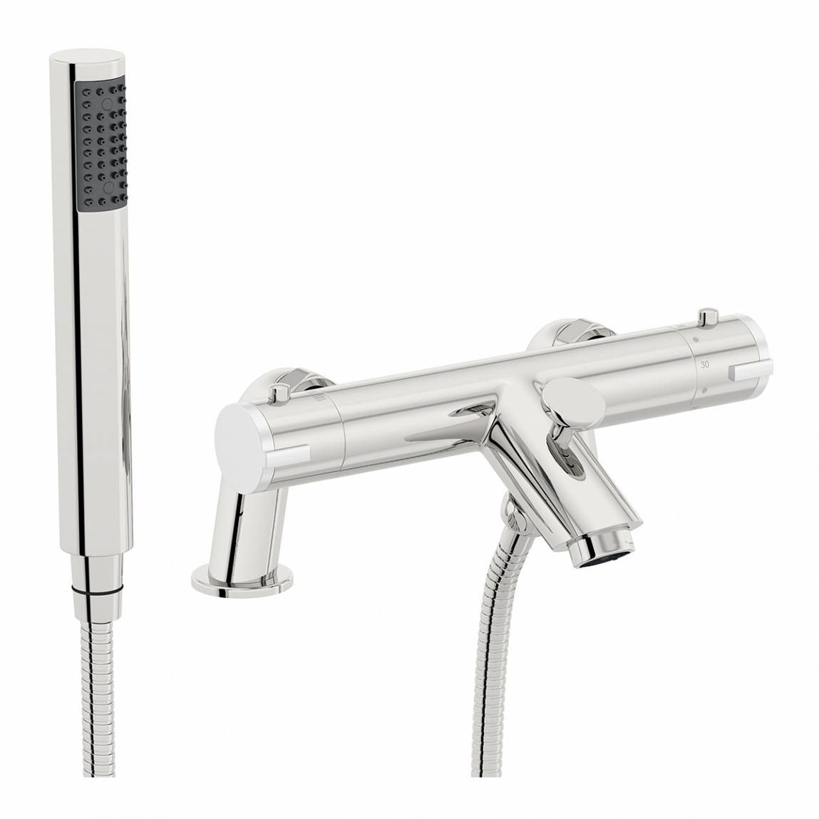 Orchard Wall or deck mount thermostatic bath shower mixer tap offer pack