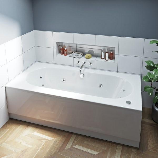 Mode Islington double end 12 jet whirlpool bath 1800 x 800