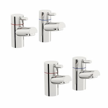 Matrix basin and bath pillar tap pack
