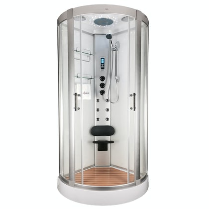 Insignia bow quadrant hydro-massage shower cabin 900 x 900