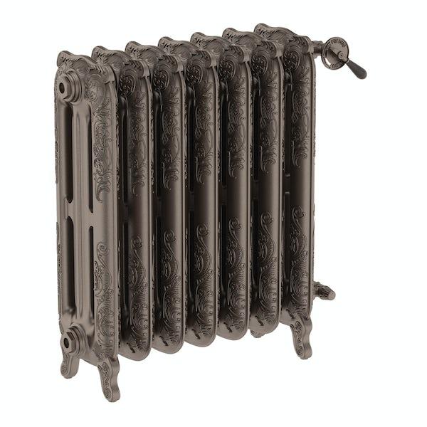 Oxford russet freestanding cast iron radiator 710 x 606