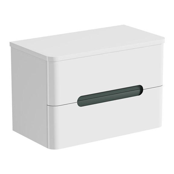 Mode Ellis select slate wall hung vanity drawer unit and countertop 800mm