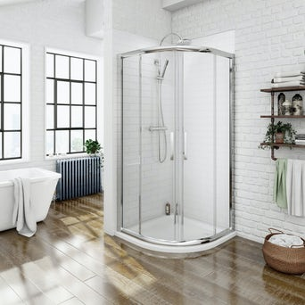 8mm Quadrant Shower Enclosure 800 with Easy Clean Glass