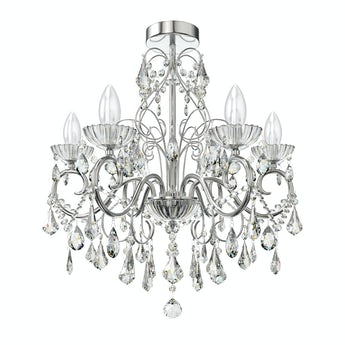 Solen 5 light bathroom chandelier