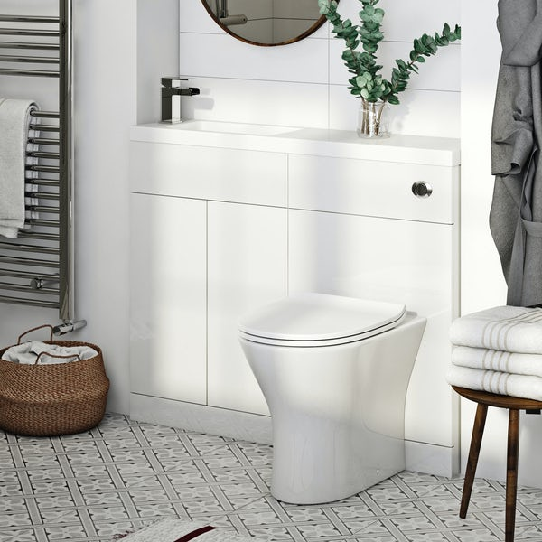 Mode MySpace Slim white combination with contemporary round toilet