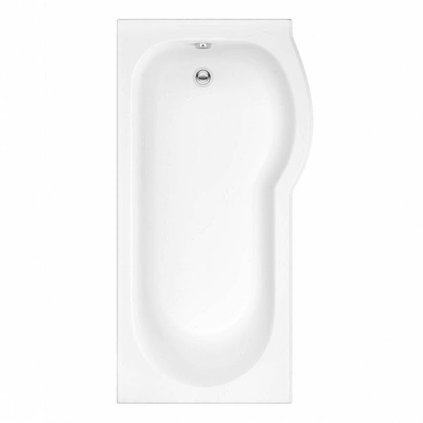 Orchard P shaped right handed shower bath 1675mm with 6mm shower screen and rail