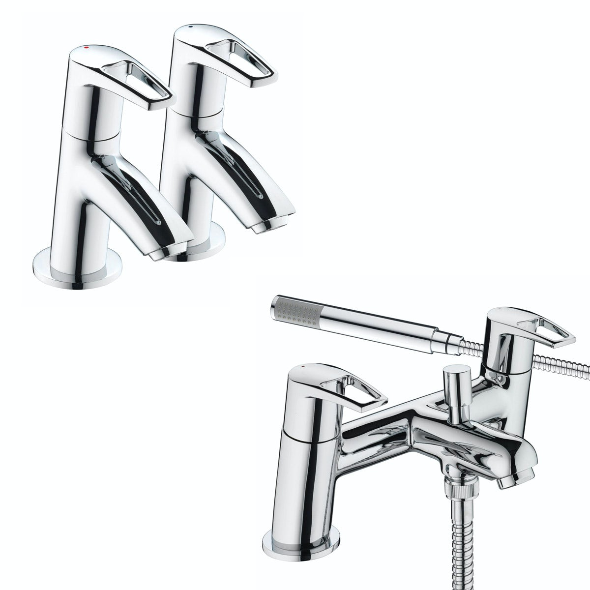 Bristan Smile basin tap and bath shower mixer tap pack