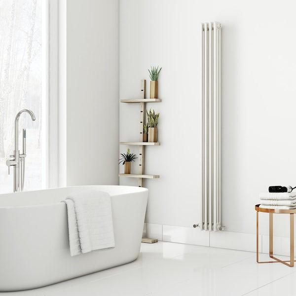 Dulwich vertical white triple column radiator 1800 x 200