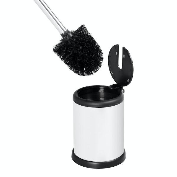 Showerdrape Aero white toilet brush