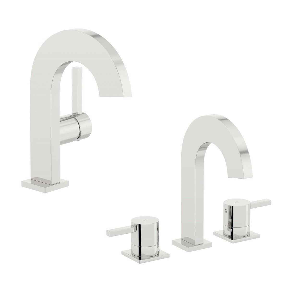 Mode Harrison basin and bath mixer tap pack