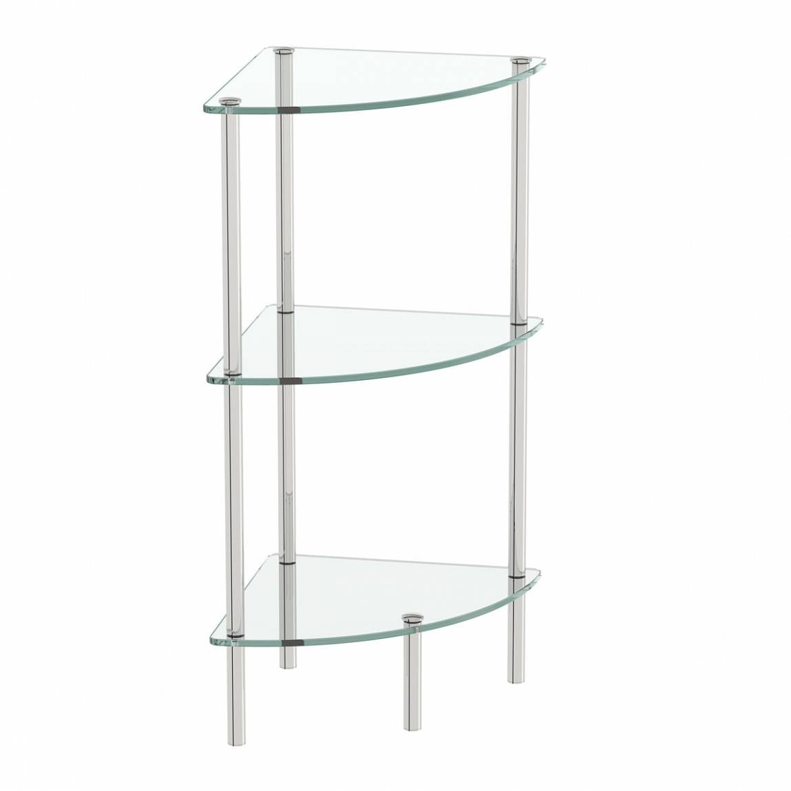 Orchard Options freestanding quadrant 3 glass shelf unit