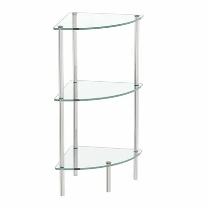 Options Freestanding Quadrant 3 Glass Shelf Unit