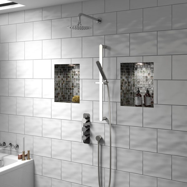 Mode Heath triple thermostatic shower valve offer pack