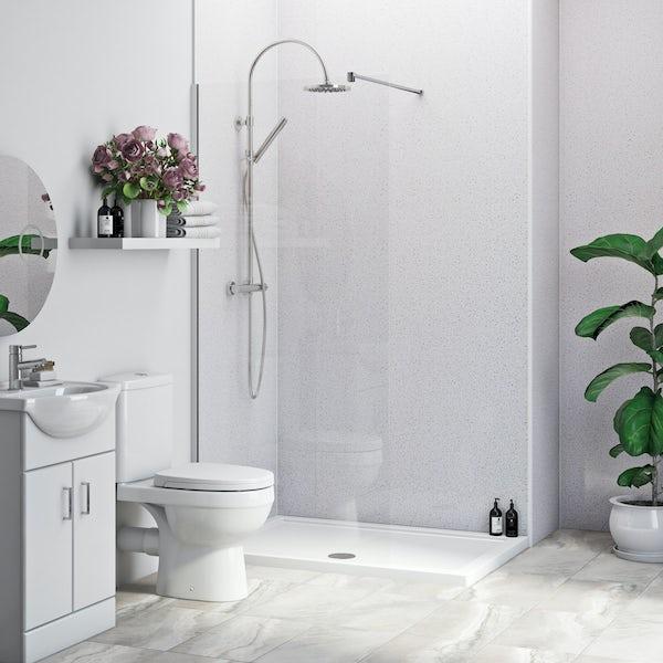 Multipanel Economy Sunlit Quartz shower wall panel installation set for enclosures up to 1000 x 1000