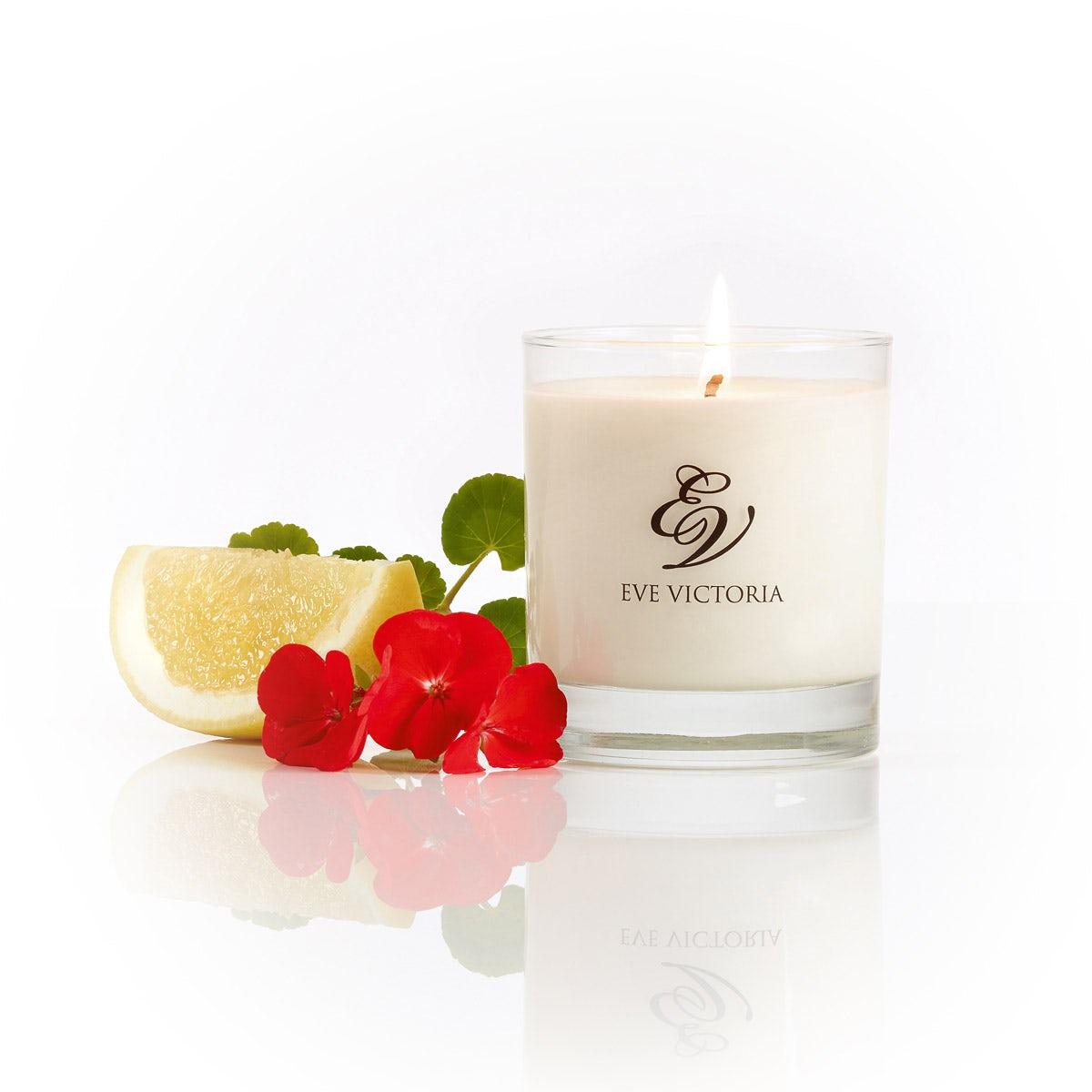 Eve Victoria Geranium, grapefruit & patchouli large candle 30cl