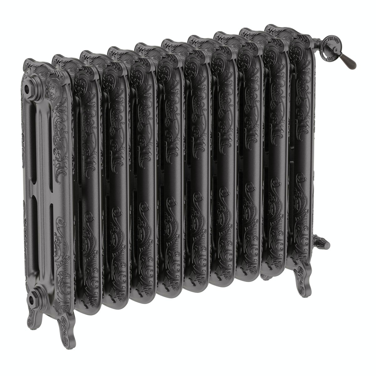 Terma Oxford raw metal freestanding cast iron radiator 710 x 852