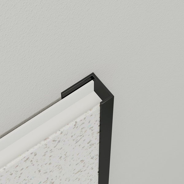 Multipanel Economy type U black end cap profile