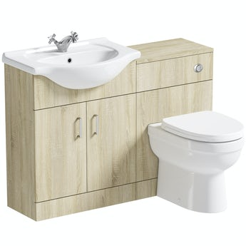 Eden oak 1140 combination with back to wall toilet and seat