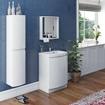 Mode Harrison snow furniture set with floorstanding door unit 600mm