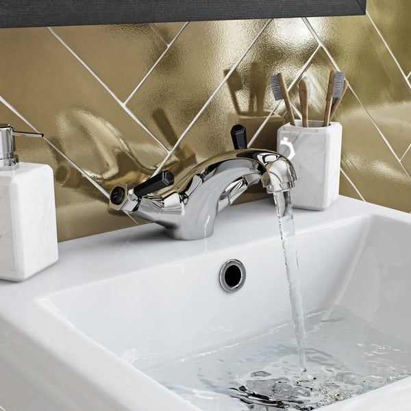 The Bath Co. Beaumont lever basin mixer and bath pillar tap pack