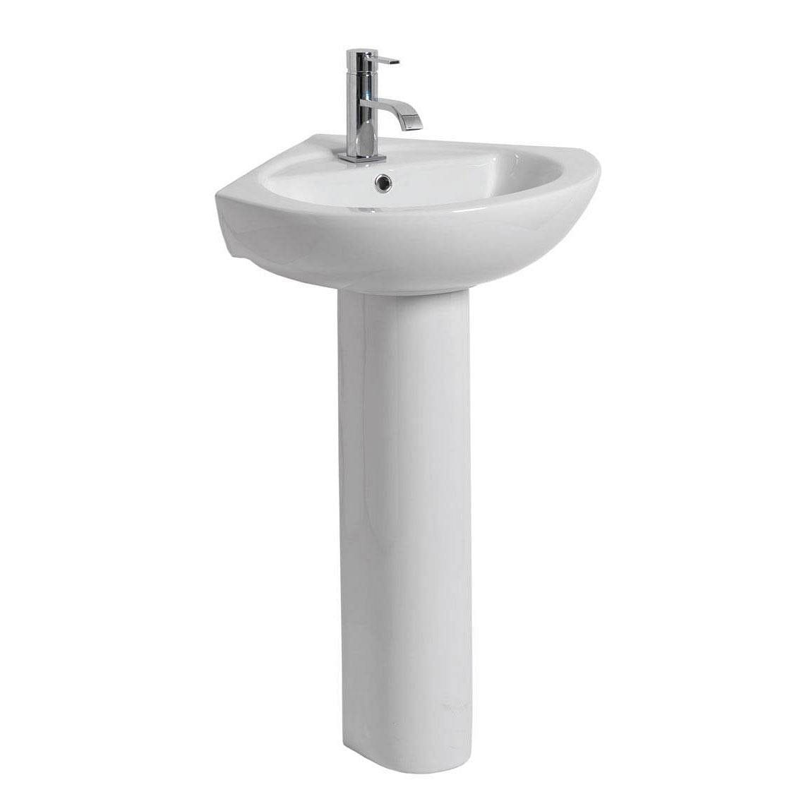 Palm corner basin pedestal - Glass cloakroom basin ...